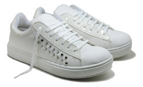 a10c3cb2d1a0 Zapatillas Simil Cuero Con Tachas Mujer - Ropa y Accesorios en Mercado  Libre Argentina