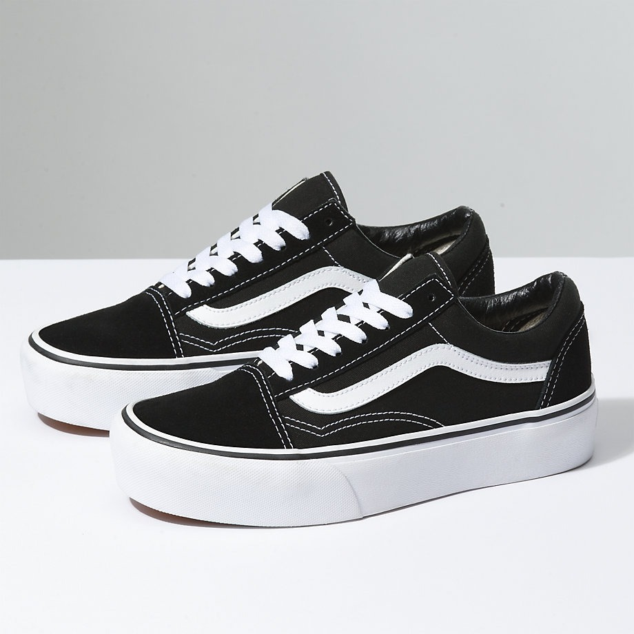 old skool vans negras