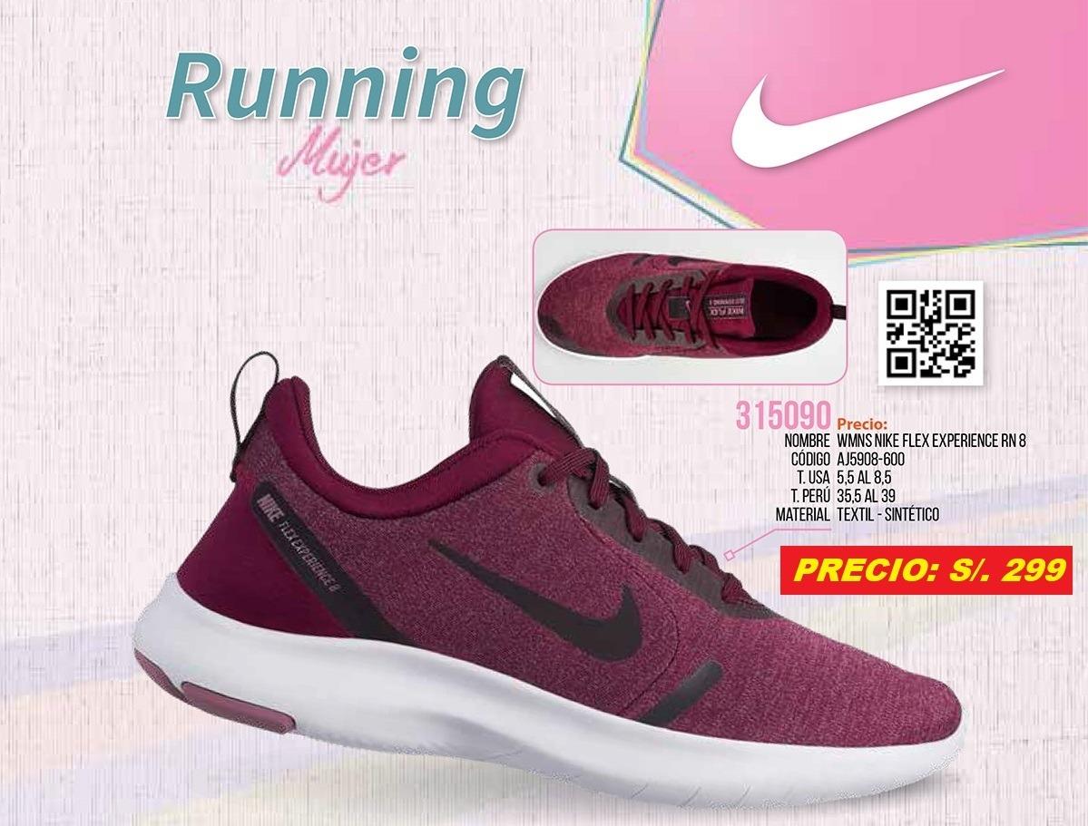 Zapatillas Mujer Wmns Nike Flex Experience Rn 8 Granate