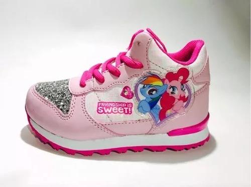 zapatillas my little pony - botitas con luz