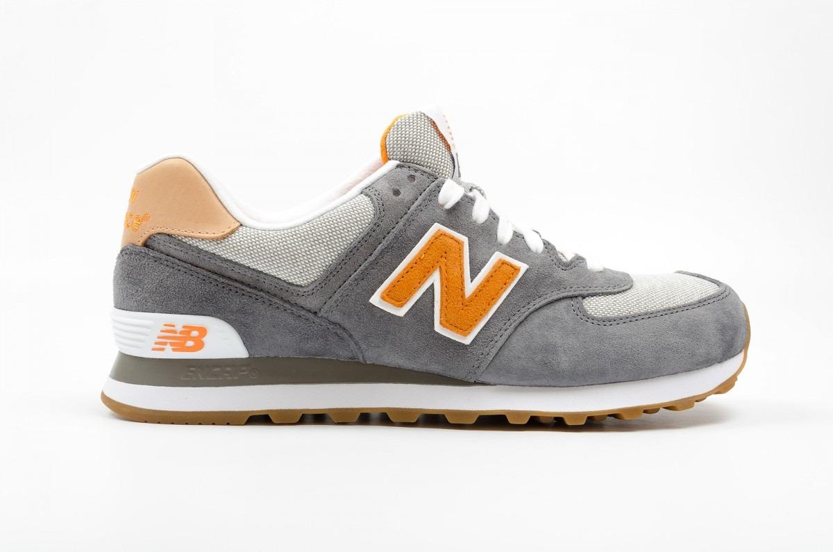 new balance 574 gris naranja