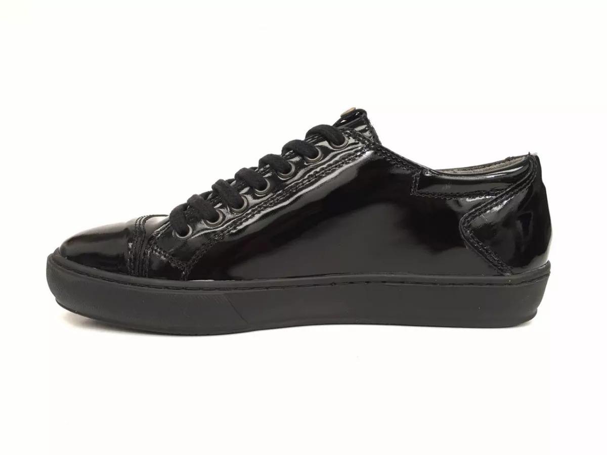8e979386b9f4a zapatillas negras de vestir cuero vacuno charol puerto blue. Cargando zoom.