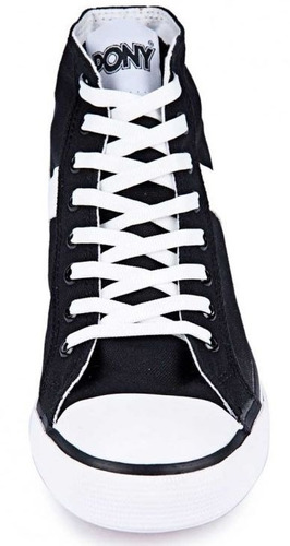 zapatillas negras pony shooter hi cvs. unisex