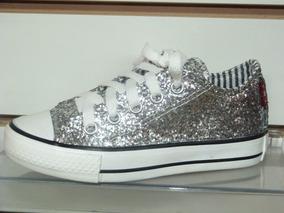 Zapatillas Nena Cordon Brillo Glitter Plateadas Al 23 26 4Rcjq5A3LS
