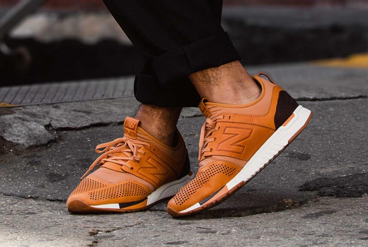 new balance zapatillas cuero marrones
