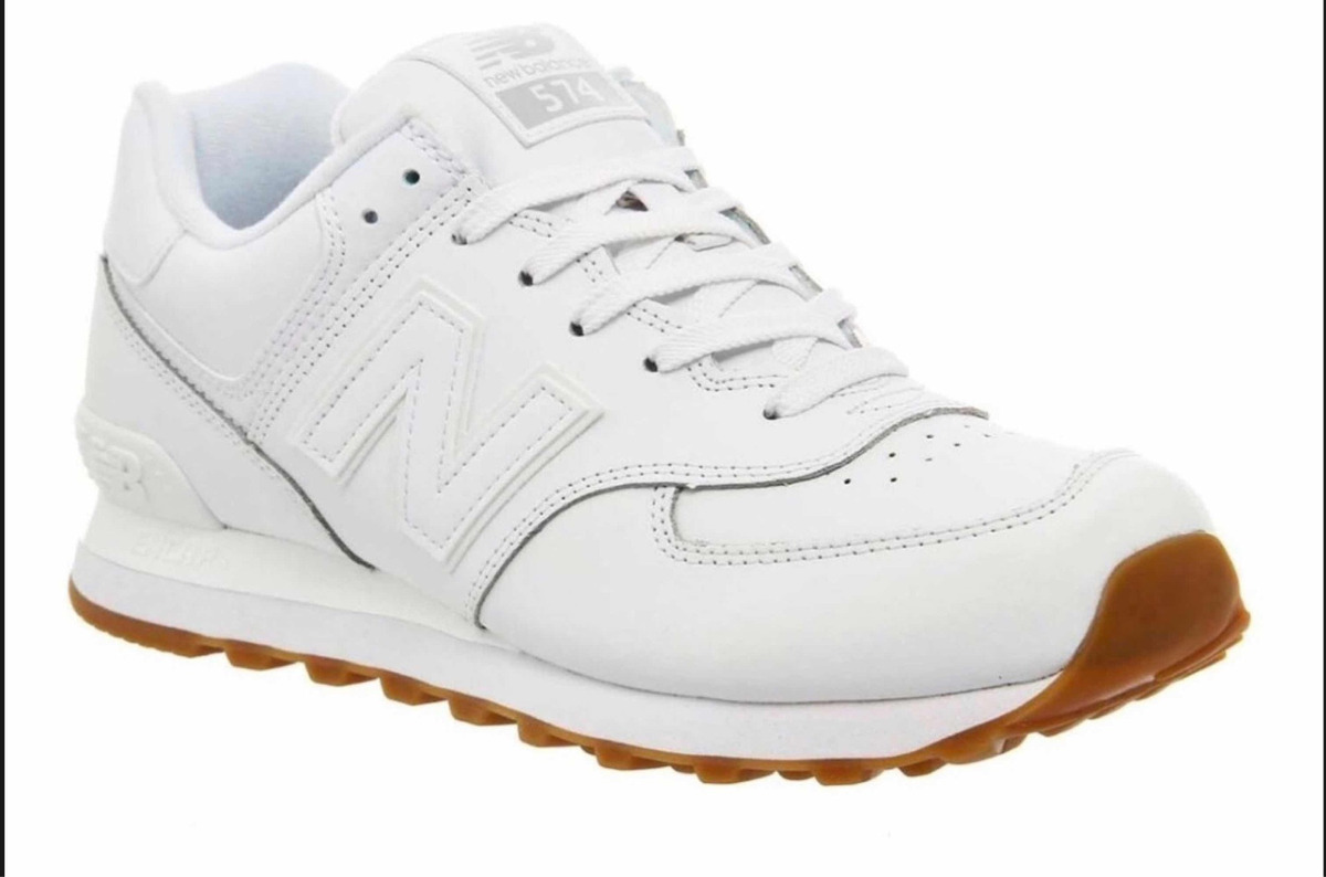 Zapatillas New Balance 574 All White Originales Con Caja