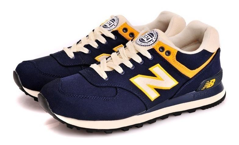 zapatillas new balance azul y amarillas