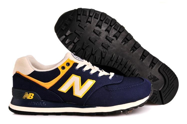2a07730147 Zapatillas New Balance 574 Azul Y Amarillo -   2.007