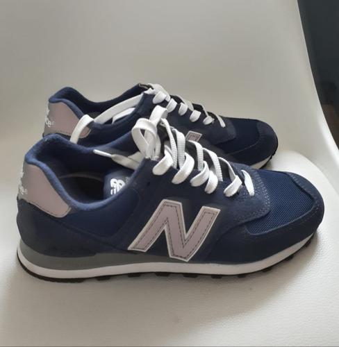 new balance 574 azul gris