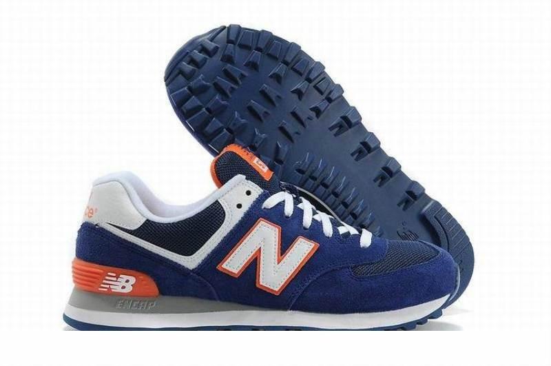 Zapatillas New Balance 574 Azul Y Naranja -   2.010 5277f8ec25193