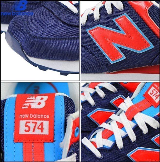 new balance 574 azul y rojo