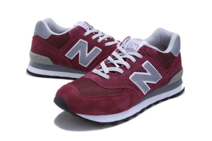 new balance 574 bordeaux marron