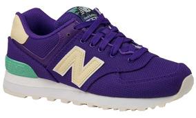 Zapatillas New Balance 574 Dama Violeta