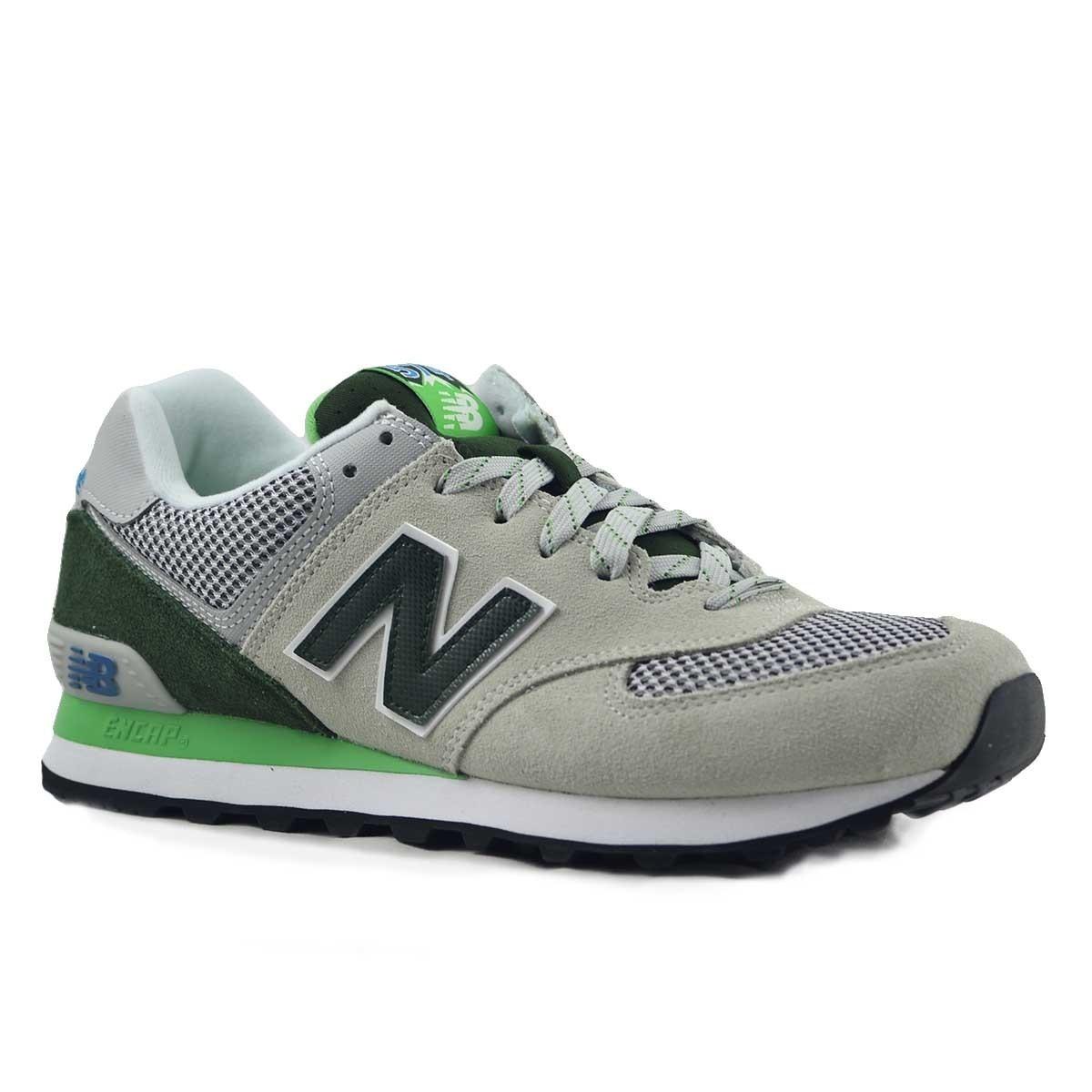 new balance 574 gris verde