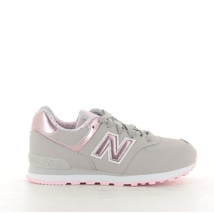 new balance 574 gris y rosa