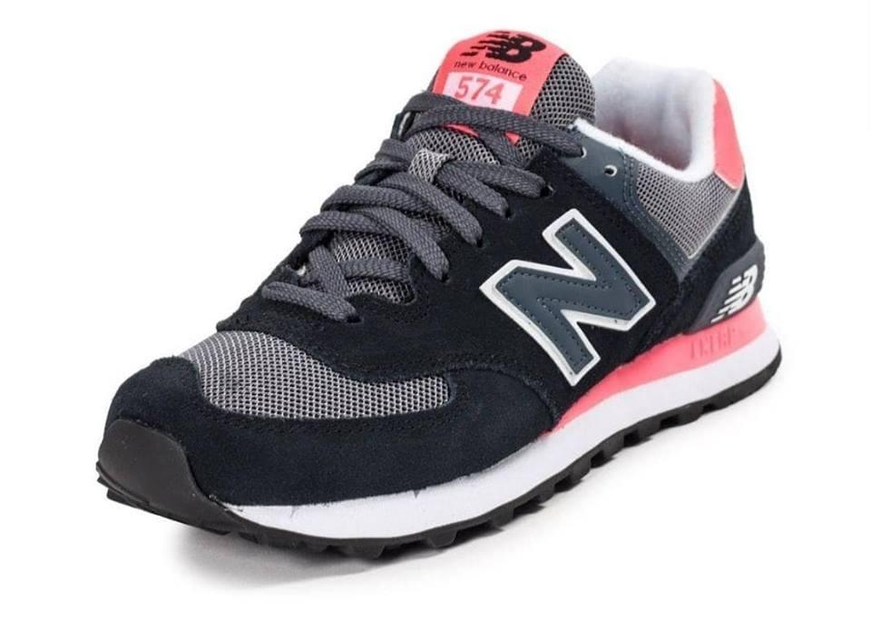 Zapatillas New Balance 574 Negra Fucsia Envio Gratis