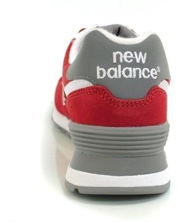 new balance 574 hombres rojas