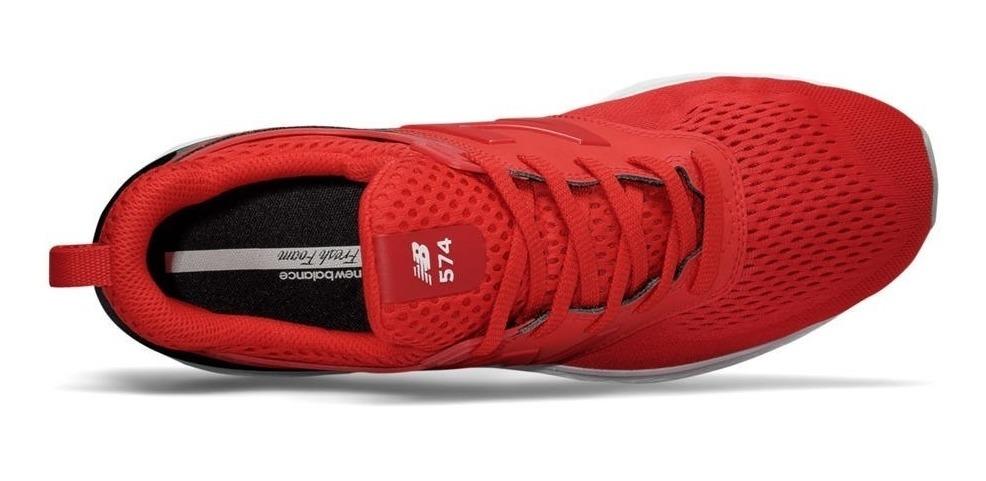 new balance 574 sport hombre rojas