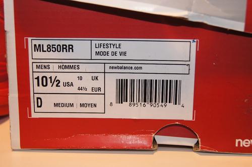 zapatillas new balance 850 us 10.5 eur 44.5 cm 28.5