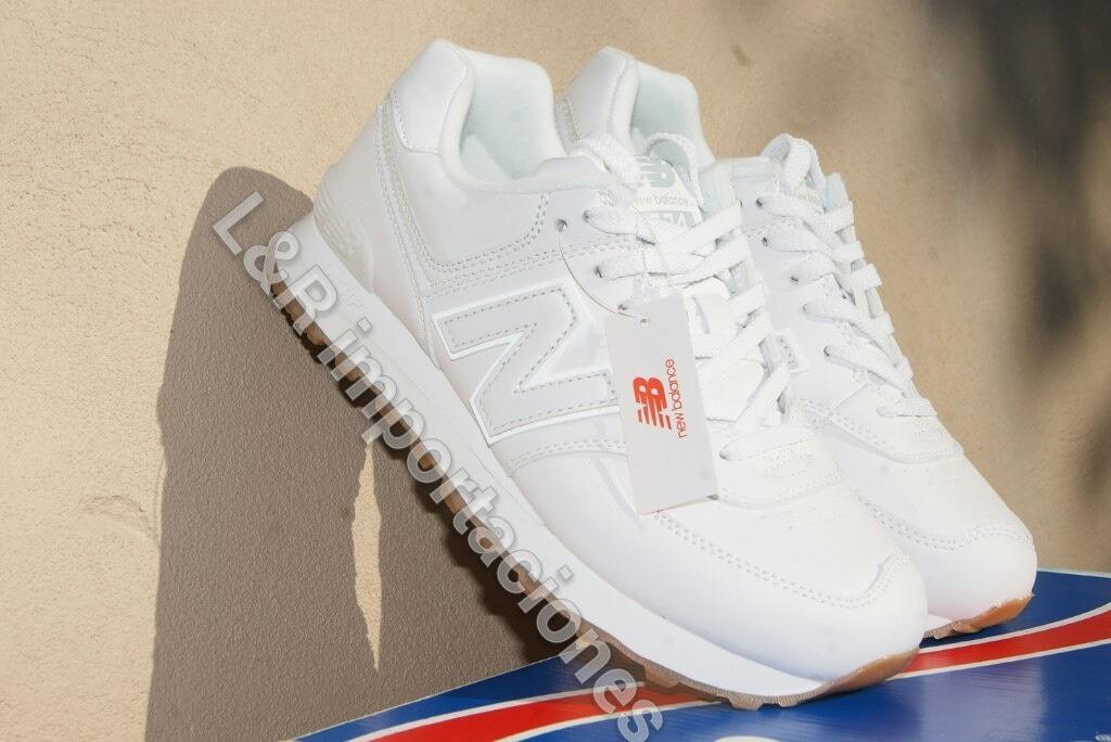 zapatillas new balance cuero blancas