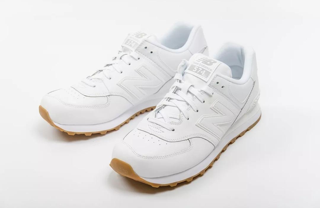 58f67c01ba2bf zapatillas new balance de cuero blanco. Cargando zoom.