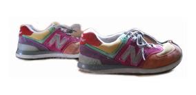 Zapatillas New Balance Mujer Usadas Nro. 36 Rojas Mostaza