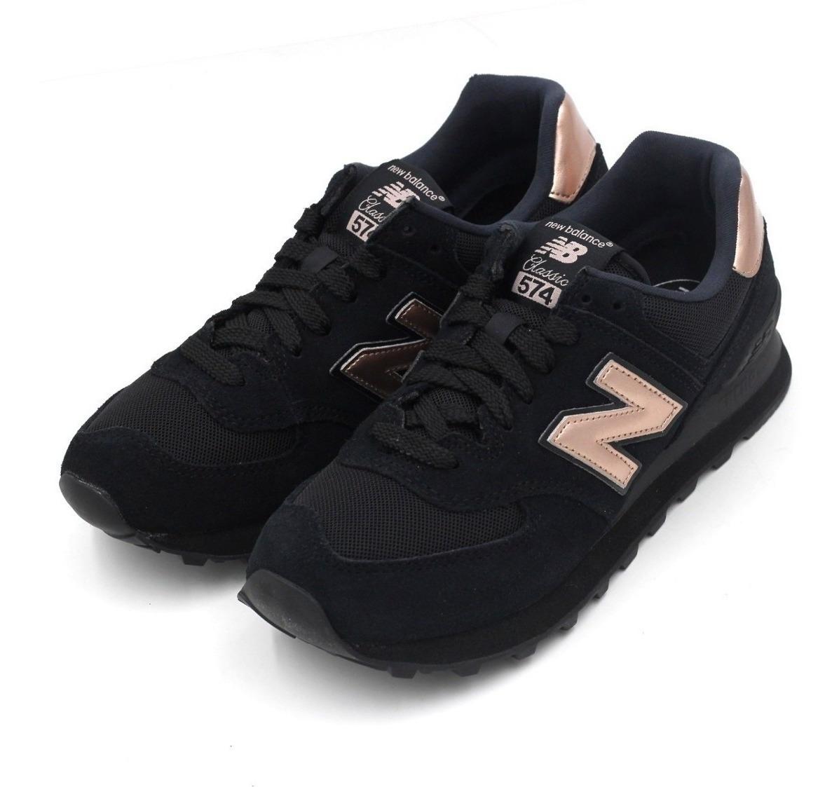 Zapatillas New Balance Negra Ocre Para Mujer Gran Oferta