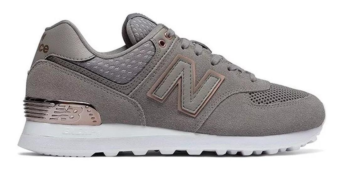 zapatillas new balance grises mujer