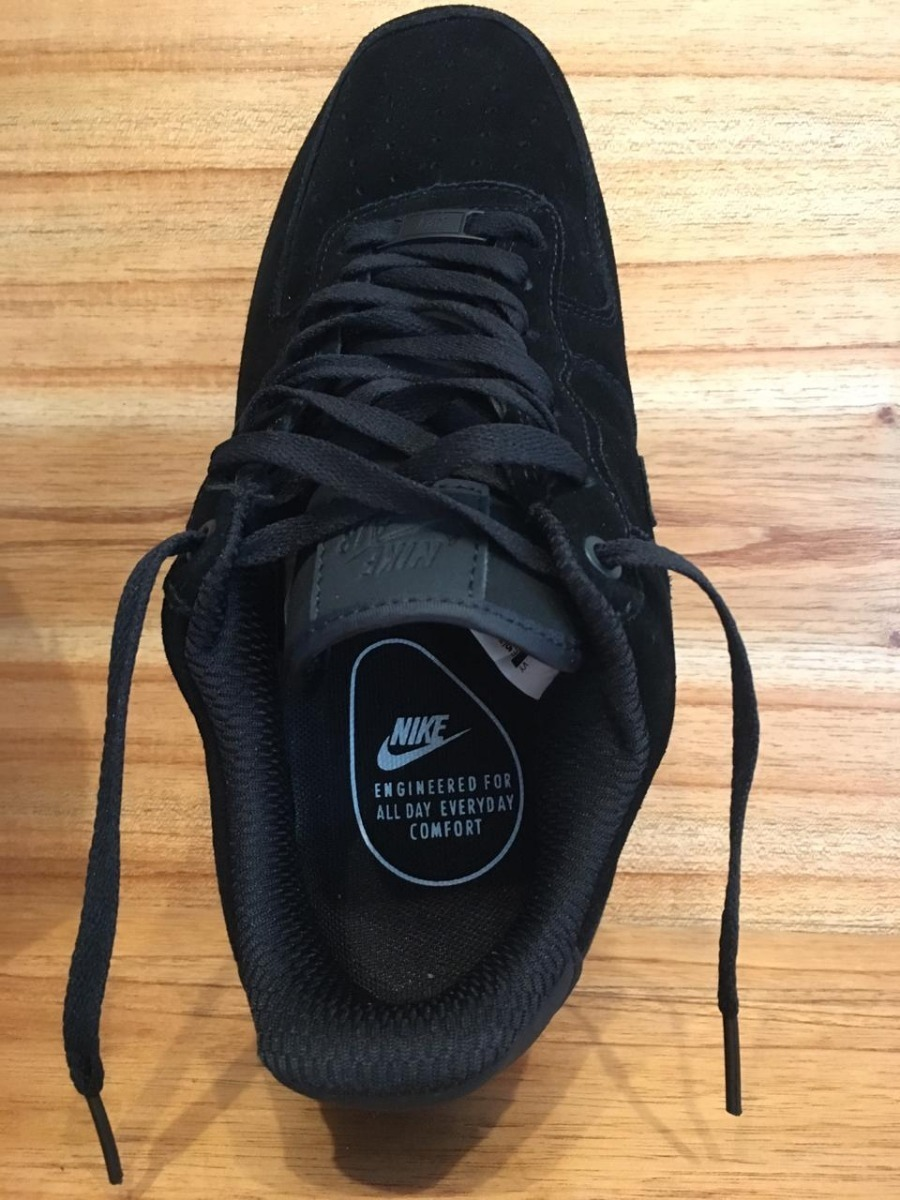 Zapatillas Nike Air Force 1 07 Se Black Gum Gamuza 40 A 43
