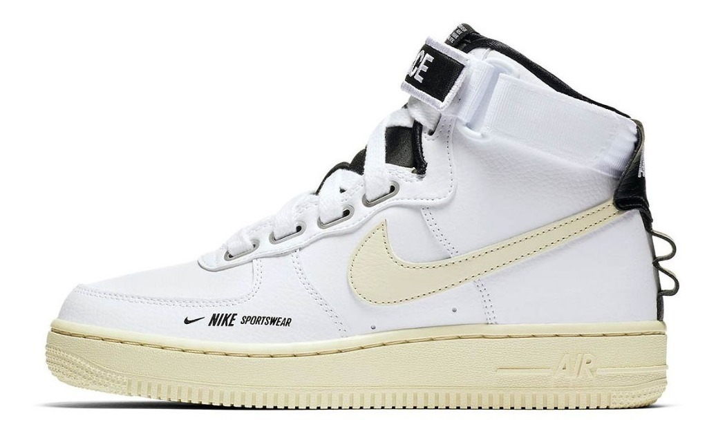 Nike Air Force 1 Hi sneakers in white in 2019 | Outfit