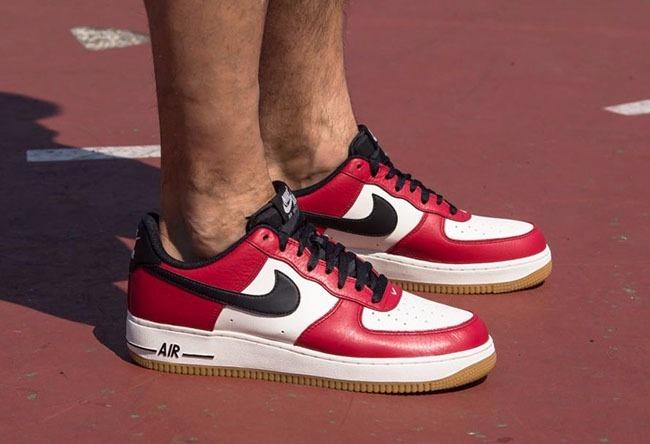 hot sale online 5b68c b14f7 zapatillas nike air force 1 low chicago rojo blanco gum 2017