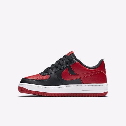 81c35ba76e7 Zapatillas Nike Air Force 1 Low Gs Negro Rojo Blanco Gym - S  369