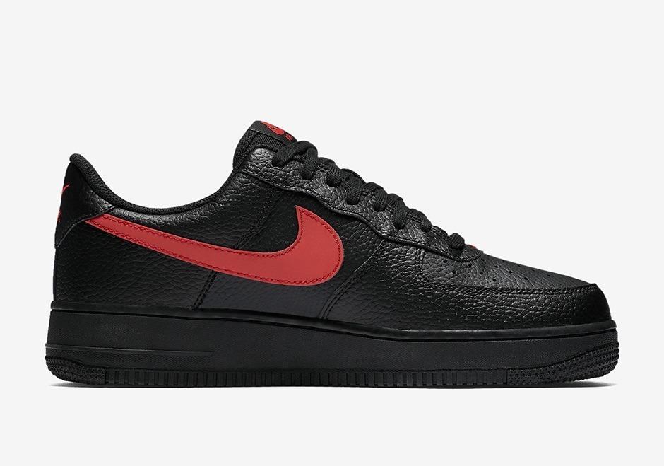 Zapatillas Nike Air Force 1 Low Negro Gym Rojo Nuevo 2018