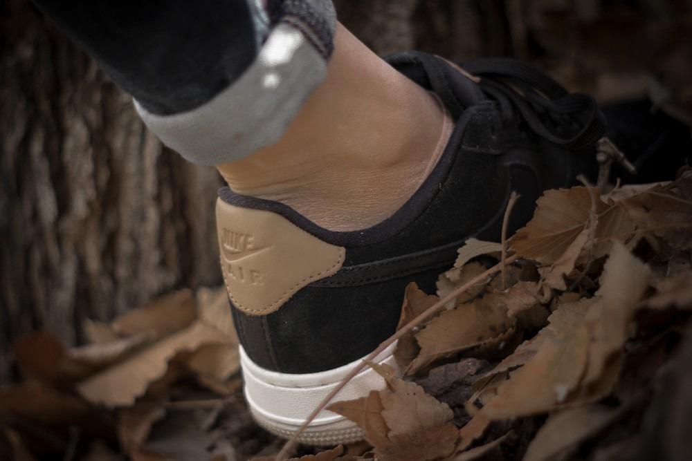 Zapatillas Nike Air Force 1 Low Premium Negra Mujer Original