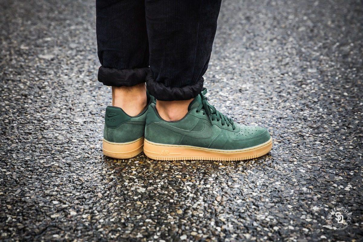 Zapatillas Nike Air Force 1 Low Verde Goma Original 2018