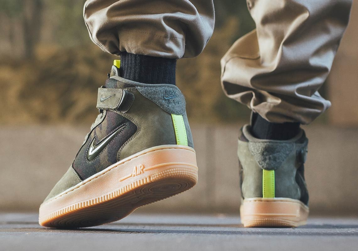 Zapatillas Nike Air Force 1 Mid Jewell Green Verde Talla 41