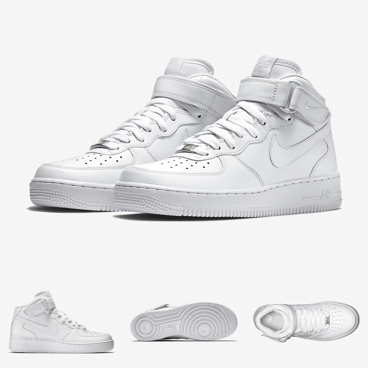 d231254343bc9 Zapatillas Nike Air Force 1 Mid Solo Talla 11 Liquidacion - S  319 ...