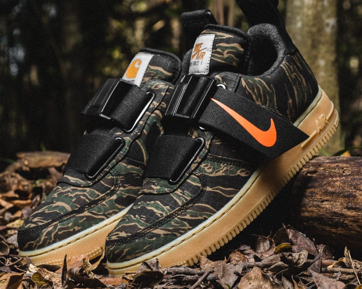 best shoes wholesale online classic fit Zapatillas Nike Air Force 1 Utility X Carhartt Wip V Militar - S ...