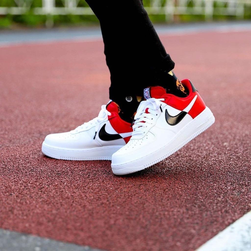 Zapatillas Nike Air Force Blancas Negras Hombre Originales