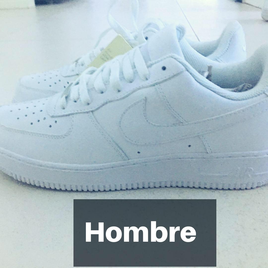 zapatillas blancas de piel hombre nike