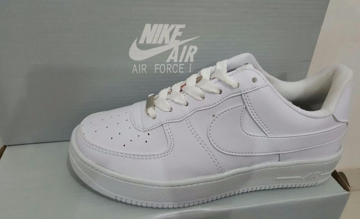 Zapatillas Nike Air Force One Blanco Hombre Mujer Nacional 699