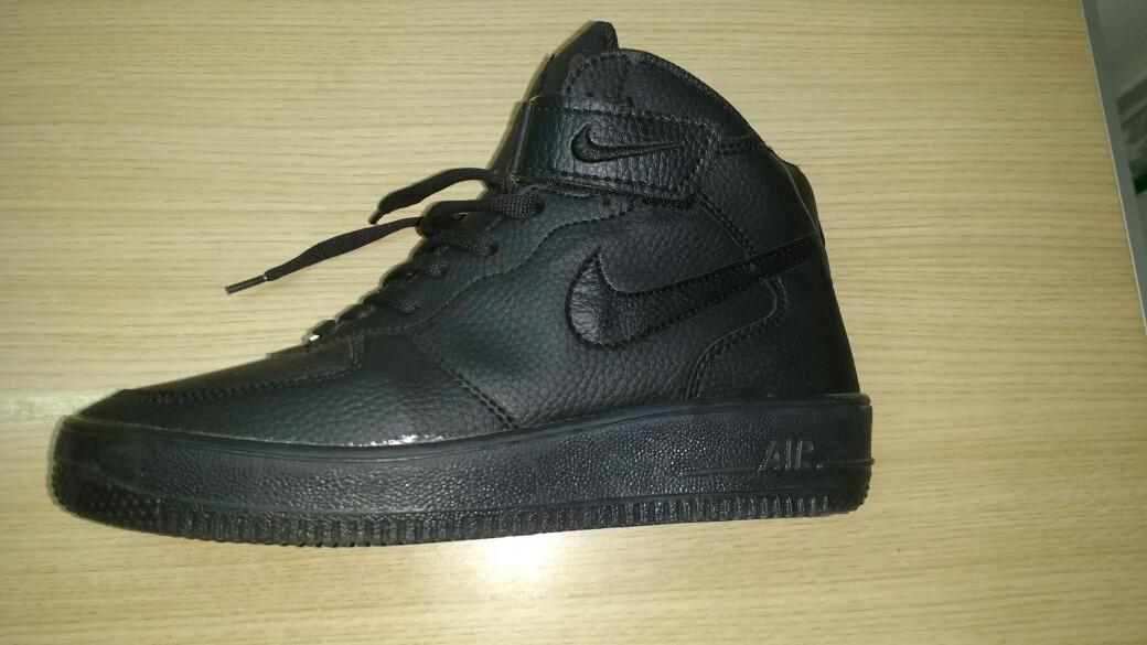 eff7a9159 Zapatillas Nike Air Force One Negras En Modo Bota! -   2.900