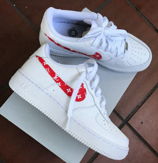 hot sale online 94f56 c69e1 ... good zapatillas nike air force one x supreme x lv mujer f6873 ae48d