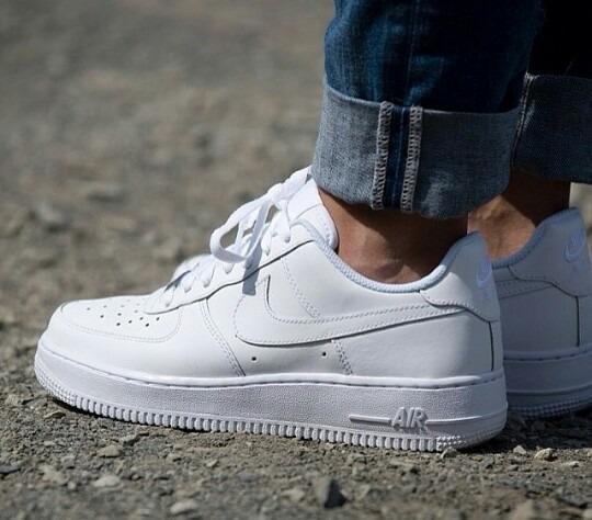 zapatillas blancas piel mujer nike