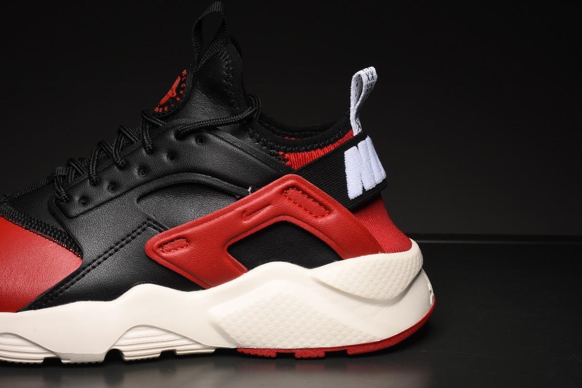 Zapatillas Nike Air Huarache Run Premium Negro Y Rojo 36 45