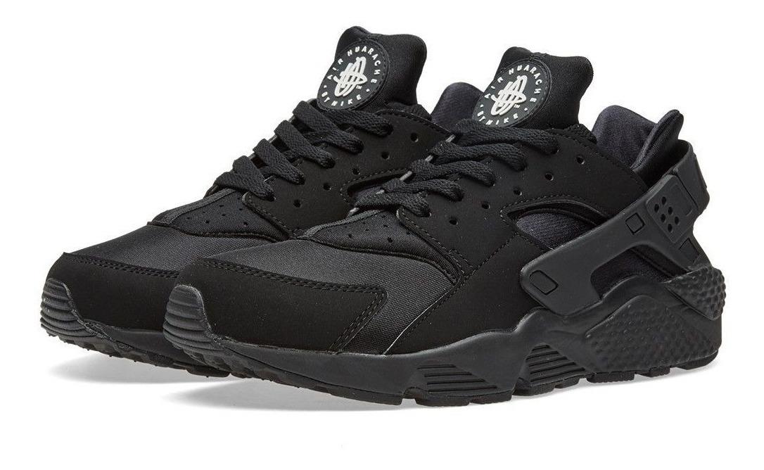 Zapatillas Nike Air Huarache Triple Negro Original 2018