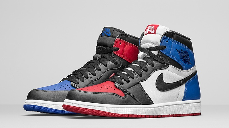 new products 0153c f8eaf Zapatillas Nike Air Jordan 1 Og Top 3 Azul Rojo Negro 2018