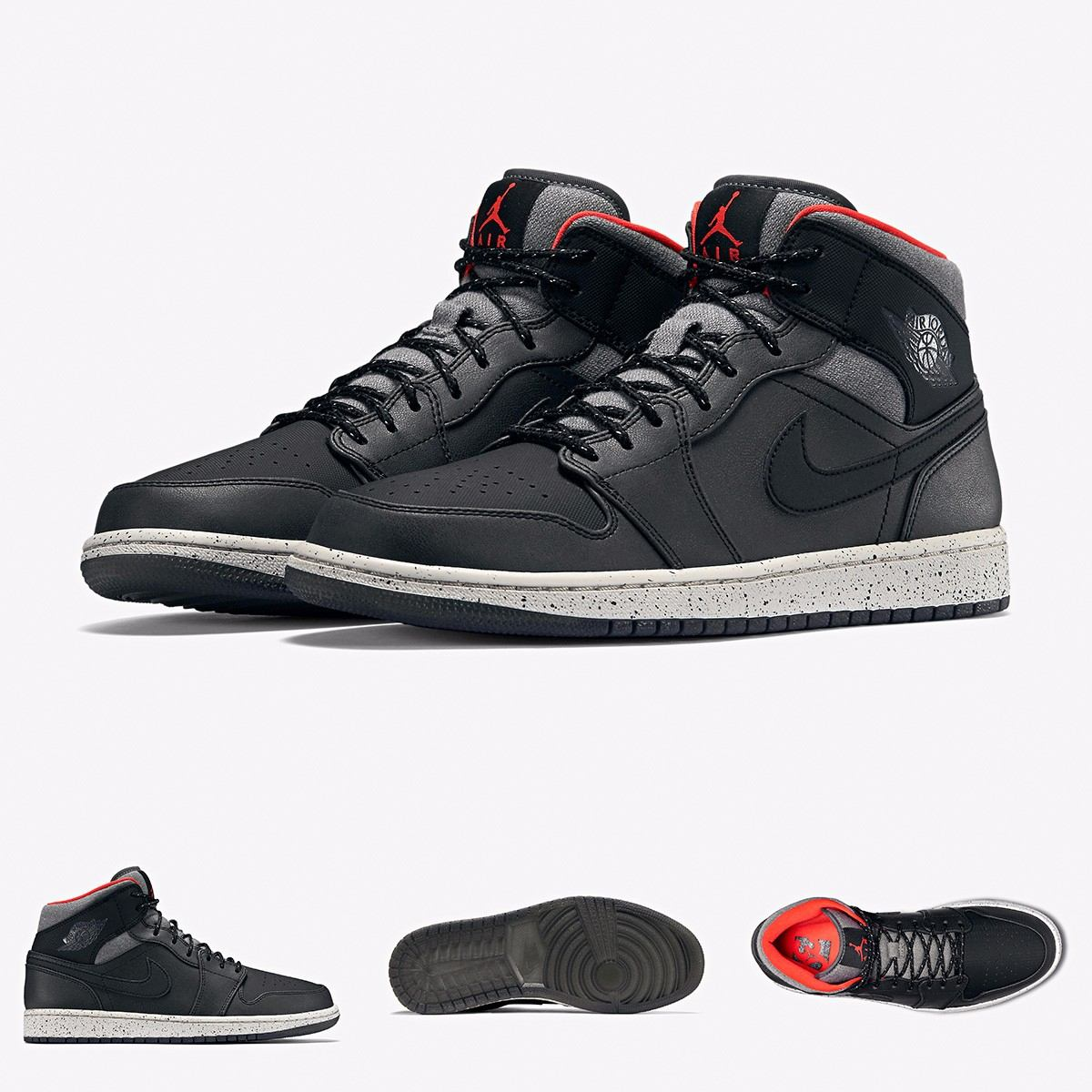 7fdd842bb5e6fe ... zapatillas nike air jordan 1 retro black cement original. Cargando zoom.