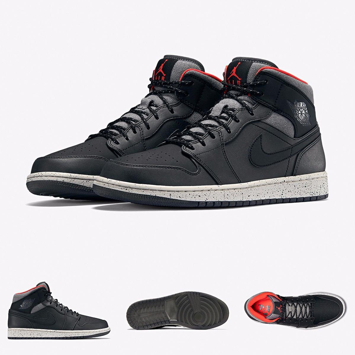 6dec152ab89 ... zapatillas nike air jordan 1 retro black cement original. Cargando zoom.