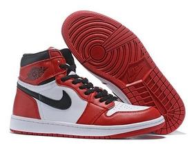 air jordan 1 blancas y rojas